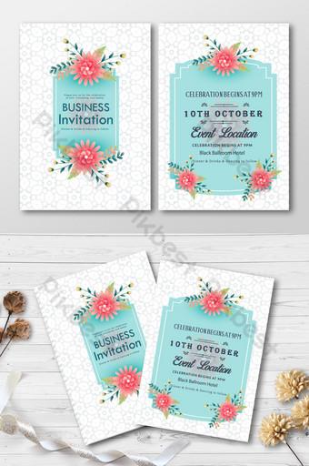 kartu undangan bisnis cantik bergaya sederhana dan singkat dengan mockup Templat AI
