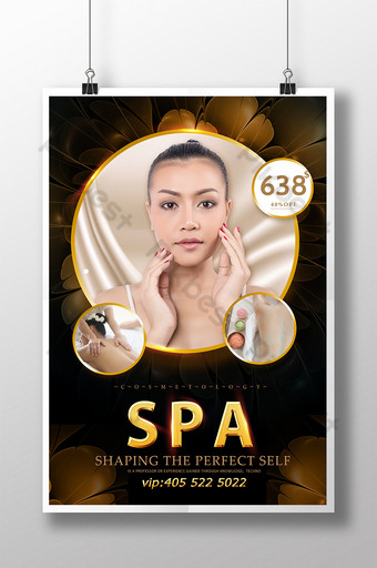Plakat promocyjny Black Gold Thai Beauty Szablon PSD
