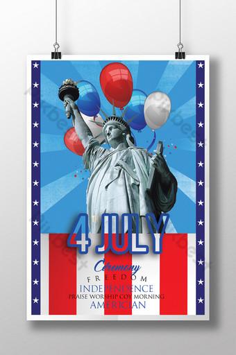 Modèles de flyers psd pour la fête de l'indépendance du 4 juillet Modèle PSD