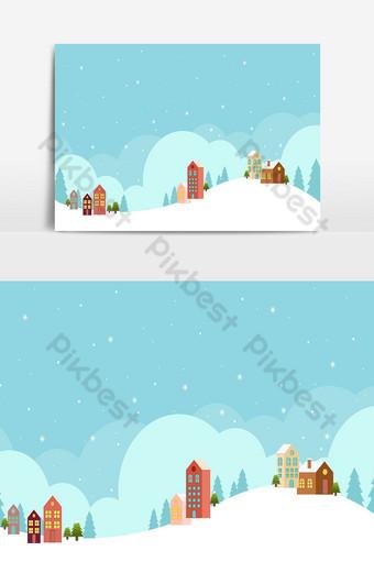 Fondo de navidad y paisaje en día nevado 02 Elementos graficos Modelo AI