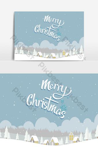 Fondo de navidad y paisaje con árboles y casas en el mundo de hielo 02 Elementos graficos Modelo AI