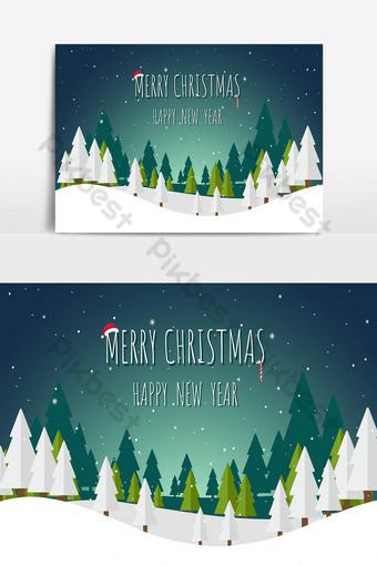 fondo de navidad y paisaje Elementos graficos Modelo AI