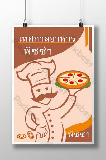 Poster thức ăn ngon pizza Thái Lan Bản mẫu CDR