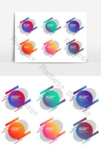 elemen sepanduk abstrak untuk pereka Elemen Grafik Templat EPS