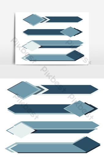 pasangkan sepanduk moden dengan warna biru pelbagai 02 ketiga yang lebih rendah Elemen Grafik Templat AI