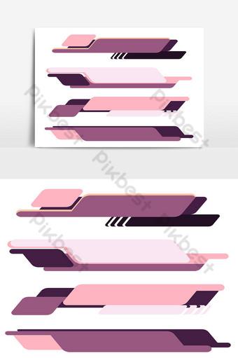tetapkan sepanduk moden dalam pelbagai warna ungu dan merah jambu ketiga yang lebih rendah 09 Elemen Grafik Templat AI