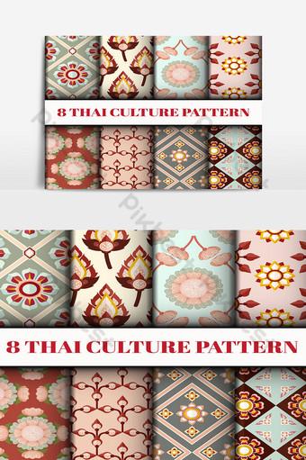 geométrico vector patrón papel tapiz fondo texturas superficiales Elementos graficos Modelo PSD