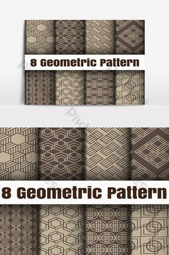 geométrico vector patrón papel tapiz fondo texturas superficiales Elementos graficos Modelo AI