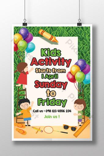 Flyer pour enfants Activité de plein air Flyer pour la journée des enfants Modèle PSD