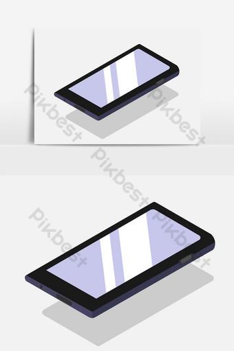Smartphone teléfono móvil sobre un fondo blanco. Elementos graficos Modelo AI
