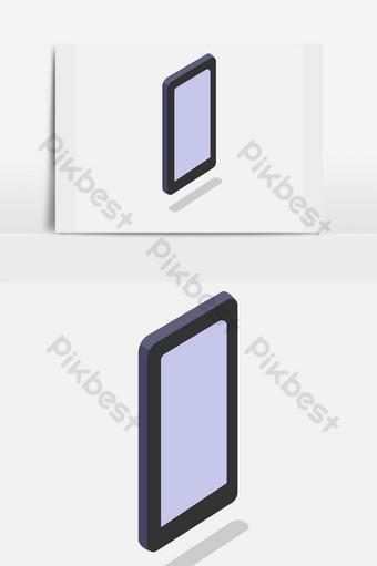 Smartphone teléfono móvil sobre un fondo blanco. Modelo PSD