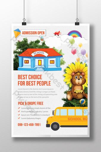 Modèles de flyers de camping pour enfants Modèle PSD