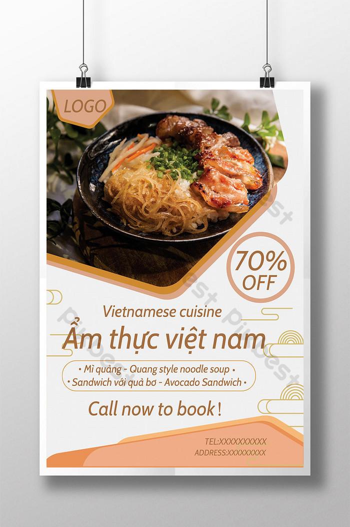 poster giảm giá món ăn việt nam