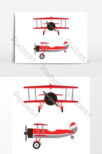 Aviones de época o modelos de dibujos animados de aviones retro aislados sobre fondo blanco Modelo AI