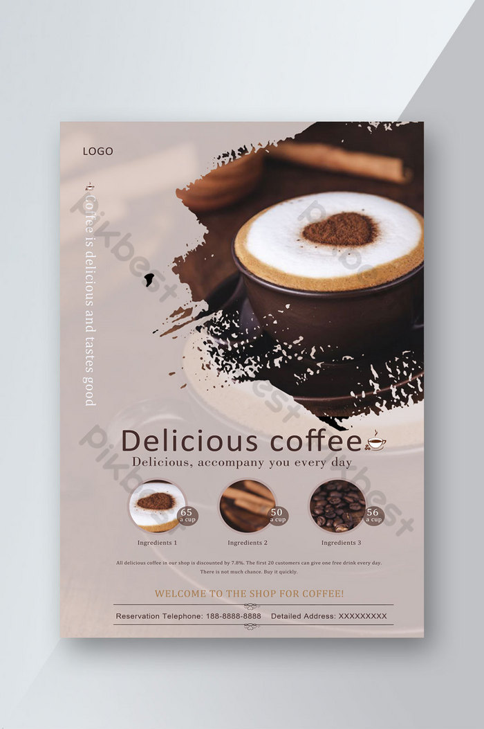 köstlicher kaffee einfache werbebroschüre