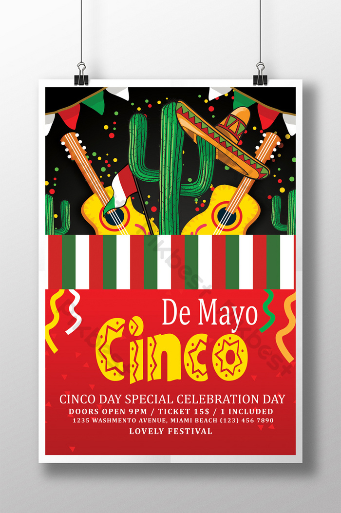 Happy Cinco De Mayo 5 May Flyer   PSD Free Download - Pikbest