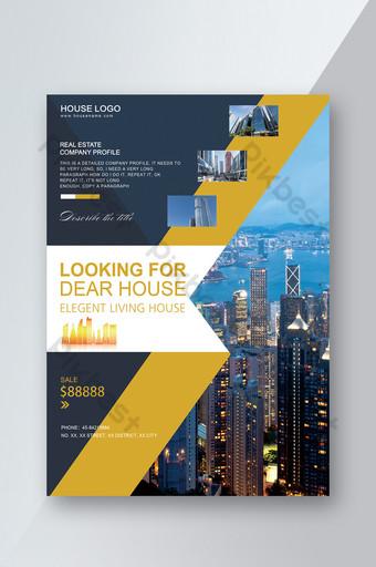 diseño de portada de folleto arquitectónico Modelo PSD
