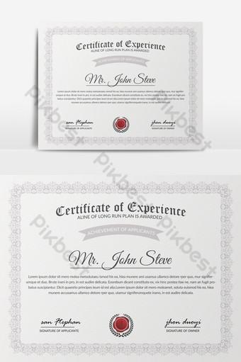 Modèles de certificats professionnels Neat Modèle PSD