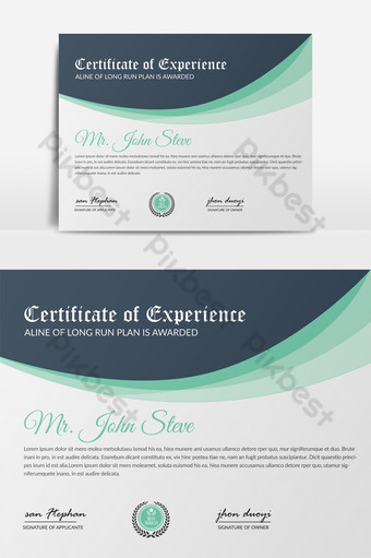 nuevas plantillas de certificado de diploma con archivo ai Modelo PSD