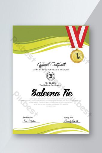 Plantillas de certificado de papelería con formato ai. Modelo PSD
