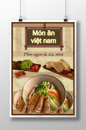 poster món ăn việt nam Bản mẫu PSD