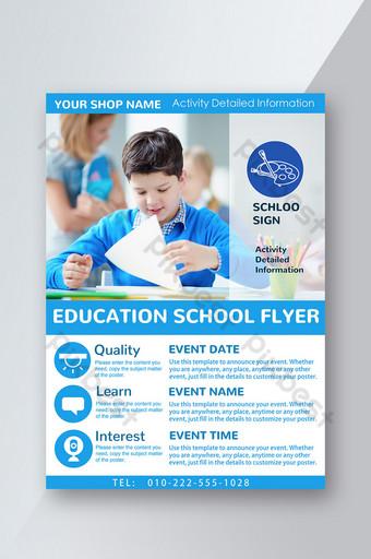 lembaga pendidikan dan pelatihan pamflet anak naif sekolah Templat PSD