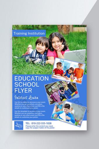 Enseignement et formation des professeurs d'école Happy Fun Tutoring Flyer On The Grass Modèle PSD