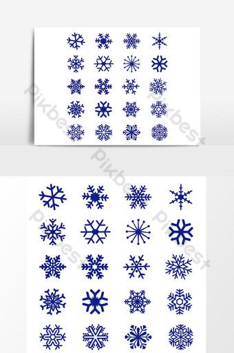 copo de nieve navidad invierno aislado icono símbolo silueta sobre fondo blanco Elementos graficos Modelo AI