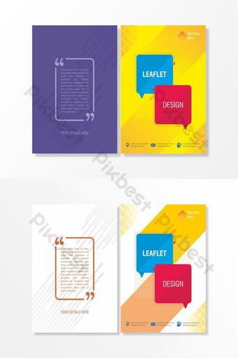 pamflet warna-warni untuk media sosial dalam berbagai macam warna Templat CDR