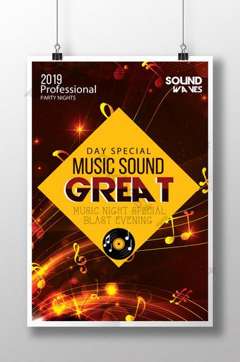 Modèles de flyers de musique Great Vibes Modèle PSD