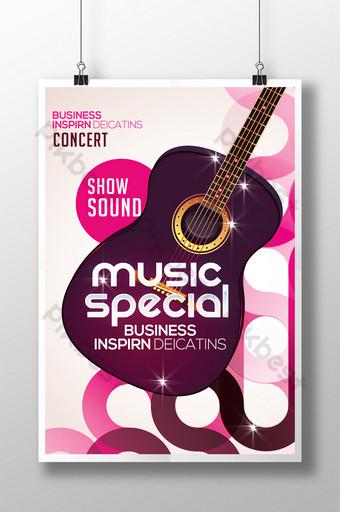 Modèle d'impression de flyer de musique violette Modèle PSD