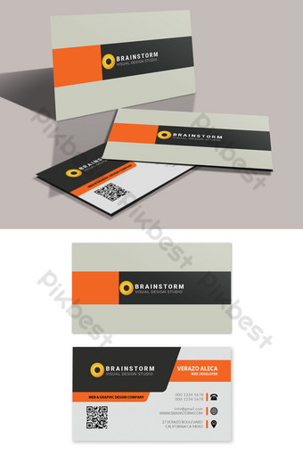 Modèle PSD modifiable de carte de visite d'entreprise propre Modèle PSD
