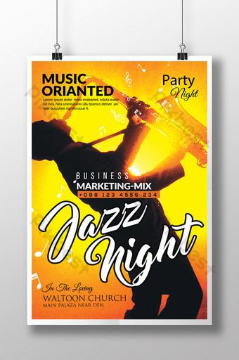 Modèles de flyers DJ Jazz Night Modèle PSD