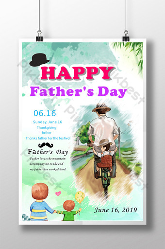 Thanksgiving Father's Day Template CDR