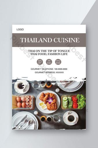 Tờ rơi món ăn Thái Bản mẫu PSD