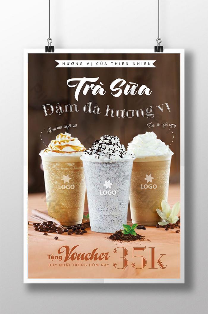 poster trà sữa đồ uống mát lạnh cho ngày hè quà tặng hấp dẫn
