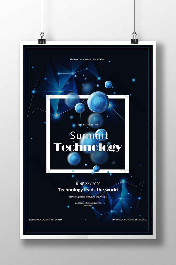 โปสเตอร์ blue future technology summit