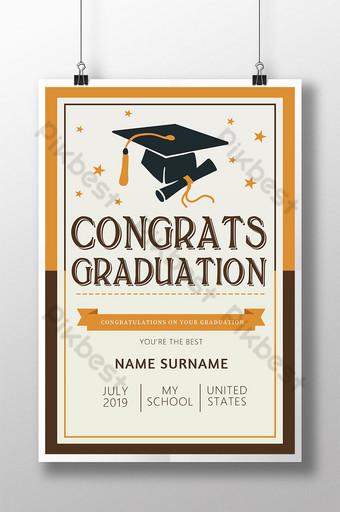 Fresh school graduation season poster Template PSD