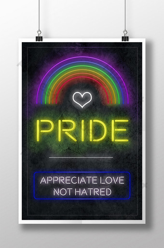 LGBT PRIDE Appreciation Poster Template PSD