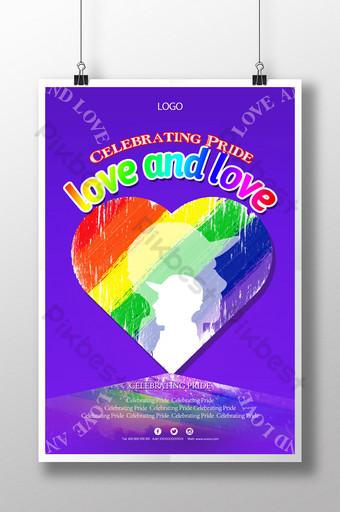 فخر قالب ملصق احتفالي مثلي الجنس قالب PSD