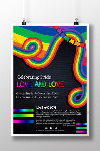 Rainbow Pride Festival Celebration Party Sale Poster Template PSD