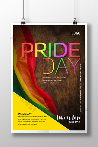 Gay Pride Festival Celebration Party Sale Poster Template PSD