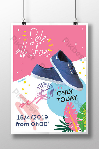 promosi untuk penjualan poster sepatu Templat AI