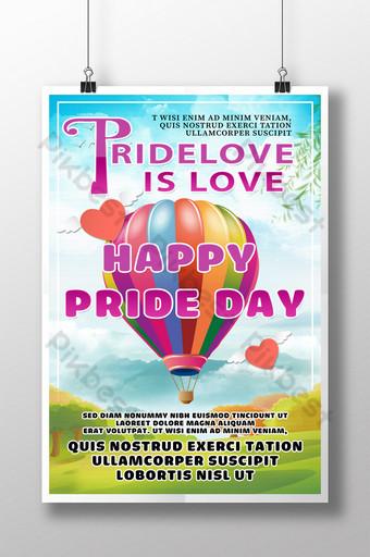 قالب لملصقات مهرجان فخر مثلي الجنس قالب PSD