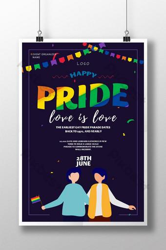 مثلي الجنس فخر مهرجان حزب بيع قالب ملصق قالب PSD