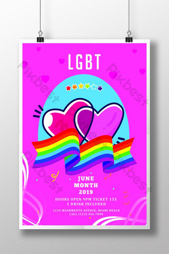 LGBT Pride Support Flyer Template Poster Template PSD