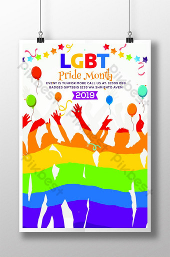 Pride Month Is Coming LGBT Flyer Template Poster Template PSD