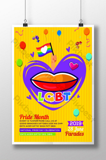 Love Is Love LGBT Pride Flyers Poster Template PSD