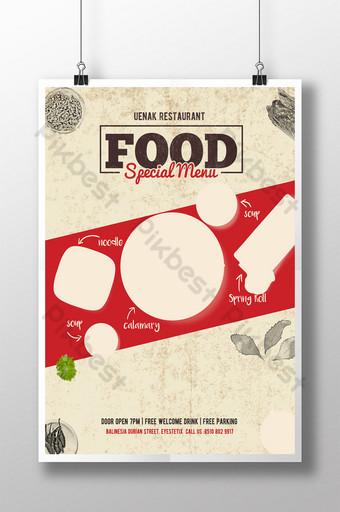 plantilla de volante de menú especial de comida simple Modelo PSD