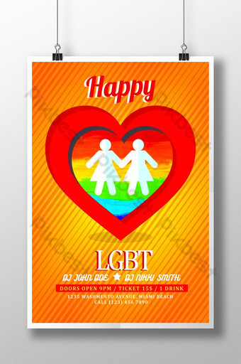 Latest LGBT Pride Posters Template PSD